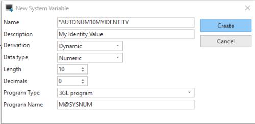 Identity variable